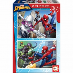 PUZZLE SPIDERMAN 2X48 EDUCA